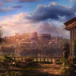 Пазл онлайн: Пейзаж с руинами
