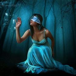 Пазл онлайн: Ночь слепа