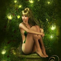 Пазл онлайн: Зеленые фонари