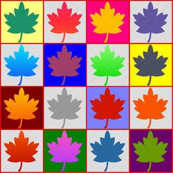 Пазл онлайн: Кленовый лист