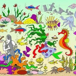 Пазл онлайн: Морской мир