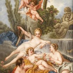 Пазл онлайн: Венера и амурчики