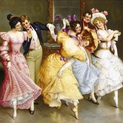 Пазл онлайн: Урок танцев