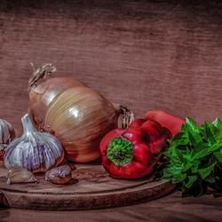 Пазл онлайн: Натюрморт с овощами