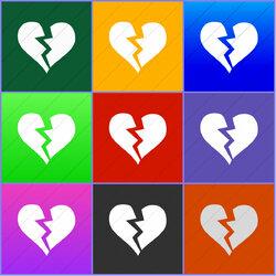 Пазл онлайн: Разбитое сердце