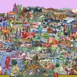 Пазл онлайн: Город денег