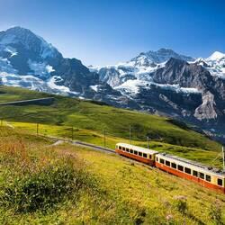 Пазл онлайн: Альпийские горы