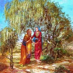 Пазл онлайн: Дева Мария и Елизавета