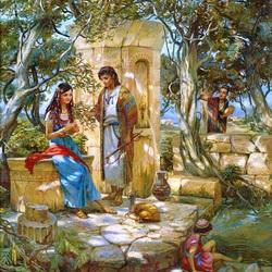 Пазл онлайн: Рахиль и Иаков