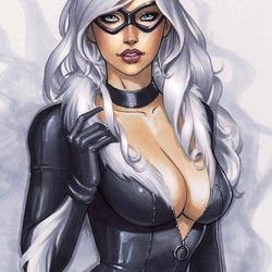 Пазл онлайн: Черная кошка