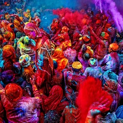 Пазл онлайн: Яркие краски Индии