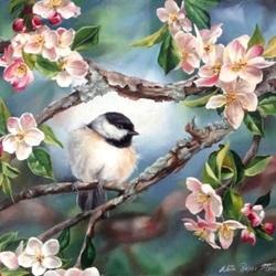 Пазл онлайн: На яблоневой ветке
