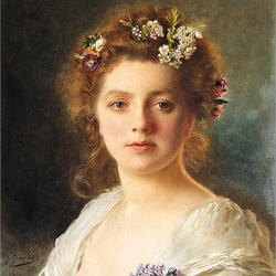 Пазл онлайн: Портрет девушки