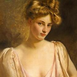 Пазл онлайн: Портрет элегантной леди