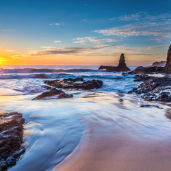 Пазл онлайн: Восход над морем