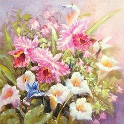 Пазл онлайн: Нежные цветы