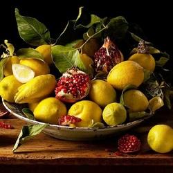 Пазл онлайн: Натюрморт с лимонами