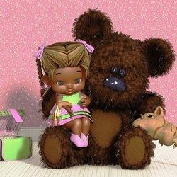 Пазл онлайн: Мой друг Тедди
