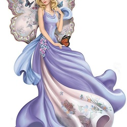 Пазл онлайн: Весенний ангел