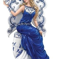 Пазл онлайн: Голубой ангел