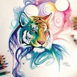 Пазл онлайн: Дух тигра