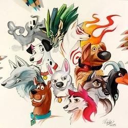 Пазл онлайн: Мои любимые псы