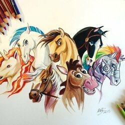 Пазл онлайн: Мои любимые лошади