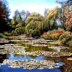 Пазл онлайн: Озеро в парке