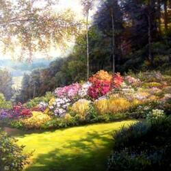 Пазл онлайн: Цветочная лужайка