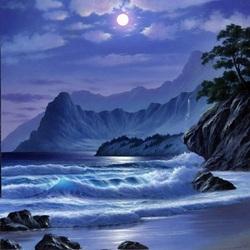 Пазл онлайн: Лунная ночь