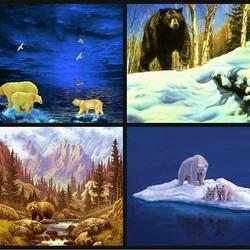 Пазл онлайн: Медведи