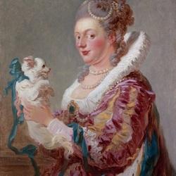Пазл онлайн: Дама с собачкой
