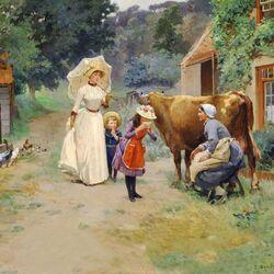 Пазл онлайн: Посещение фермы