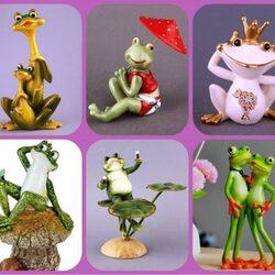 Пазл онлайн: Декоративные лягушатки