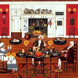 Пазл онлайн: Музыка в День Благодарения
