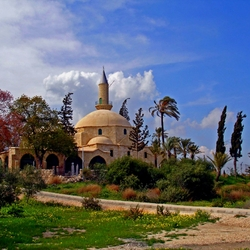 Пазл онлайн: Мечеть Хала-Султан-Текке