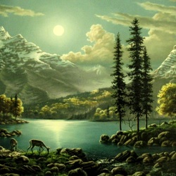 Пазл онлайн: Сказочная ночь