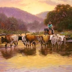Пазл онлайн: Через реку
