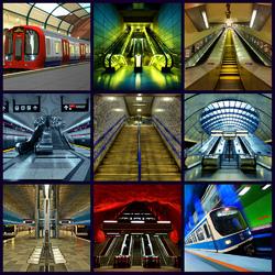 Пазл онлайн: Станции