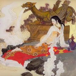 Пазл онлайн: Китайская красавица
