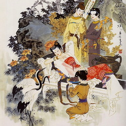 Пазл онлайн: Китайские красавицы