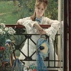 Пазл онлайн: У садового окна