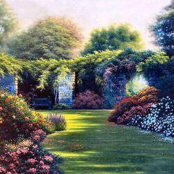 Пазл онлайн: Прекрасный сад