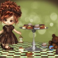 Пазл онлайн: Шоколад