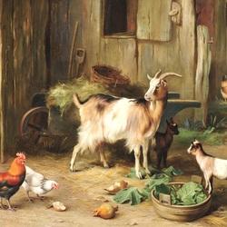 Пазл онлайн: На скотном дворе