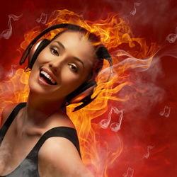Пазл онлайн: Очарованная музыкой