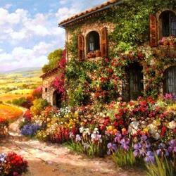 Пазл онлайн: Цветочный рай