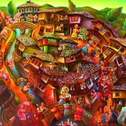 Пазл онлайн: Деревня