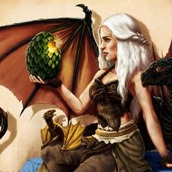 Пазл онлайн: Матерь драконов