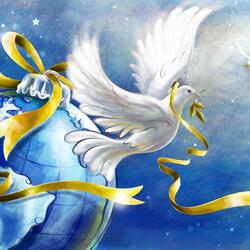 Пазл онлайн: Миру мир